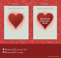 Valentine's Heart Journal Skin by CypherVisor