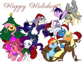 Happy Holidays by bunnimation