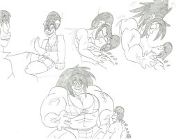 Toph Make-Out Hulk-Out with Ranma by CatsTuxedo