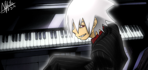 Soul Evans Piano by SilverDrawing88
