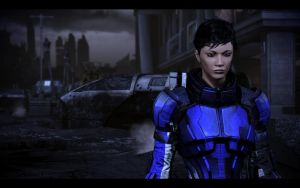 ME3 Jane Shepard on Earth by chicksaw2002
