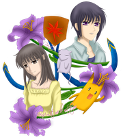 Fruits Basket-Yuki y Machi by pentium11