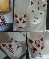 Mini fox mask finished c: by goiku