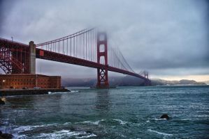 Golden Gate Bridge Fog by zootnik