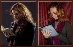 Hermione Granger Cosplay - Looking in the book by AnastasiyaKosenko