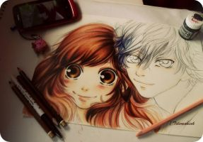 Ao Haru Ride wip by Telemaniakk