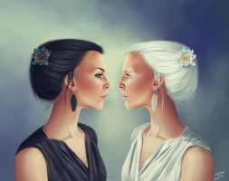 Two sides of the same coin by Julia-Aurora