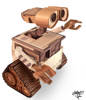 Wood Wall-e Ilustracion by chart1989