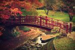 imagining fall in japan by alahay