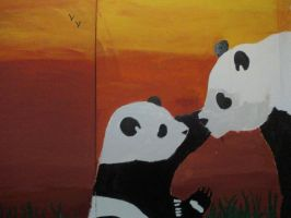 Panda Graffiti by TheLovePotion