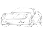 Ferrari 599 Sketch by Blue-Raie