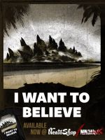 I Want to Believe in Godzilla by ninjaink