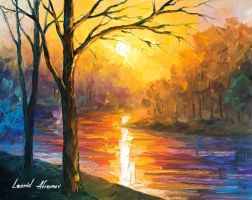 Yellow River by Leonid Afremov by Leonidafremov