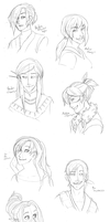 Jingdou Headshot Requests by hyperionwitch