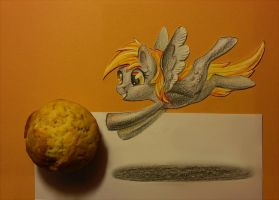 Derpy and my last muffin by SatynaPaper