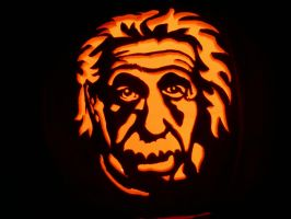 Einstein Pumpkin by kenklinker
