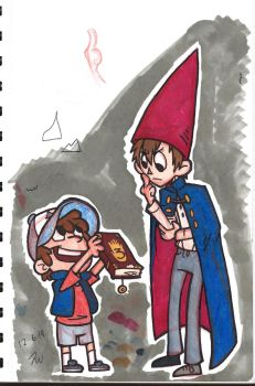 Wirt and Dipper by Marimokun