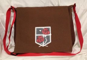 Attack on Titan Garrison Messenger Bag by Tirrivee