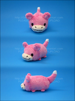 Stacking Plush: Mini Slowpoke by Serenity-Sama