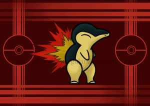 My first Pokemon, Cyndaquil