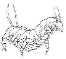 Scolipede by kittendrumstick
