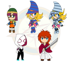 Assorted Chibis - The Magician and The Knight by Dragon-FangX