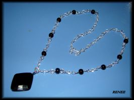 Black and crystal necklace by jasmin7