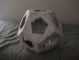 basic 30 piece origami pentagon ball by thepaperme999