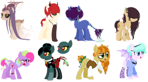 spoopy scary adoptables by Athene112
