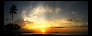Tropical Sunset - Panoramic by shuttermonkey