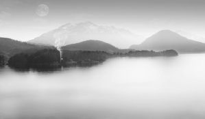 Black and White Lake by samkennedy