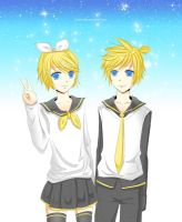 AT - Kagamine by Pinky-Neko