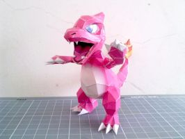 Papercraft - Charmeleon 01 by ckry