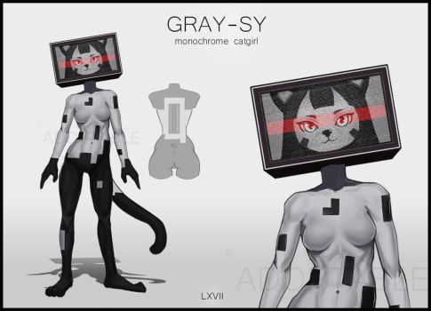 [CLOSED] Gray-sy Adoptable 24h by lxvii-art