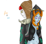 Midna and Zant by belligerentPrincess