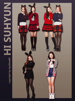 Hi Suhyun Png pack 4p by hyukhee05