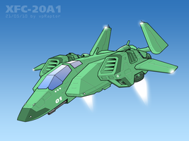 XFC-20A1 Strike Spacecraft 2 by vpRaptor