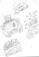 Racing Scene Sketch by RexcoCorps