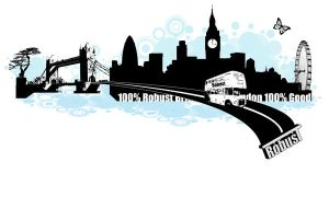 Robust London T-shirt Design by Robust-Art