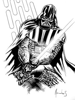 DARTH VADER COMMISSION by UltimateRubberFool