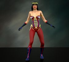 Wonder Woman 2nd skin textures for V4 by hiram67