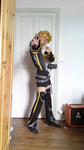Kagamine Len punkish version Cosplay unfinished by Cerfeuille
