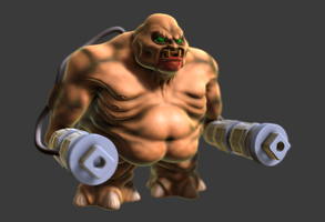 Doom 2 Mancubus Work In Progress MudBox Render by s13n1