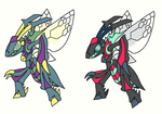 Primal Genesect with shiny by Toldentops