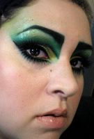 Green fantasy trial makeup by the-sooz