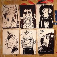 Some quick sticky drawings by MarcosMachina