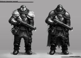 Enforcer character concept by RogierB