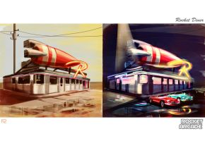 Rocket Diner by hision
