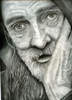 Homeless Man by killaby
