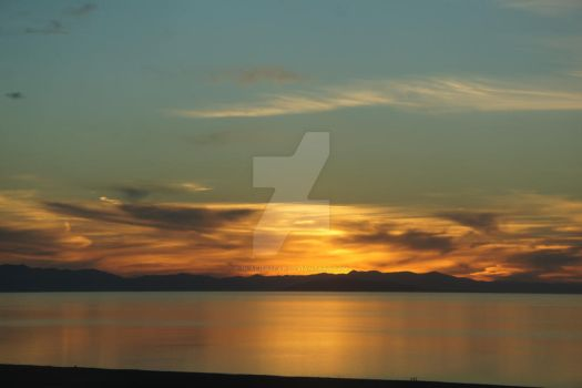 Sunset on the Great Salt Lake by glacierbear